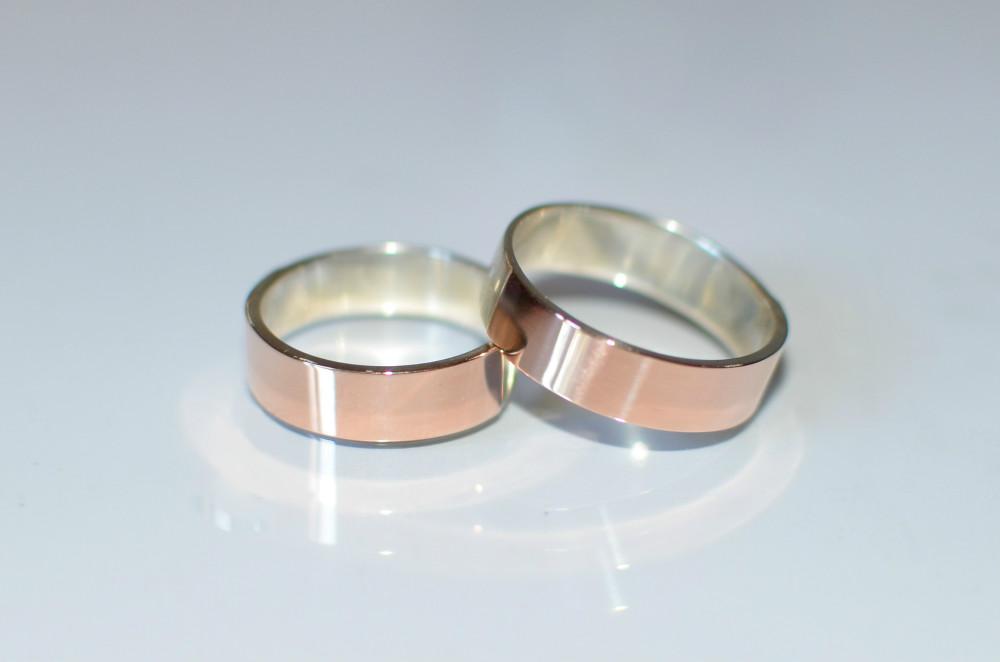 Серебряное кольцо с золотой вставкой (накладками) Белая Церковь ... 11d641a820676